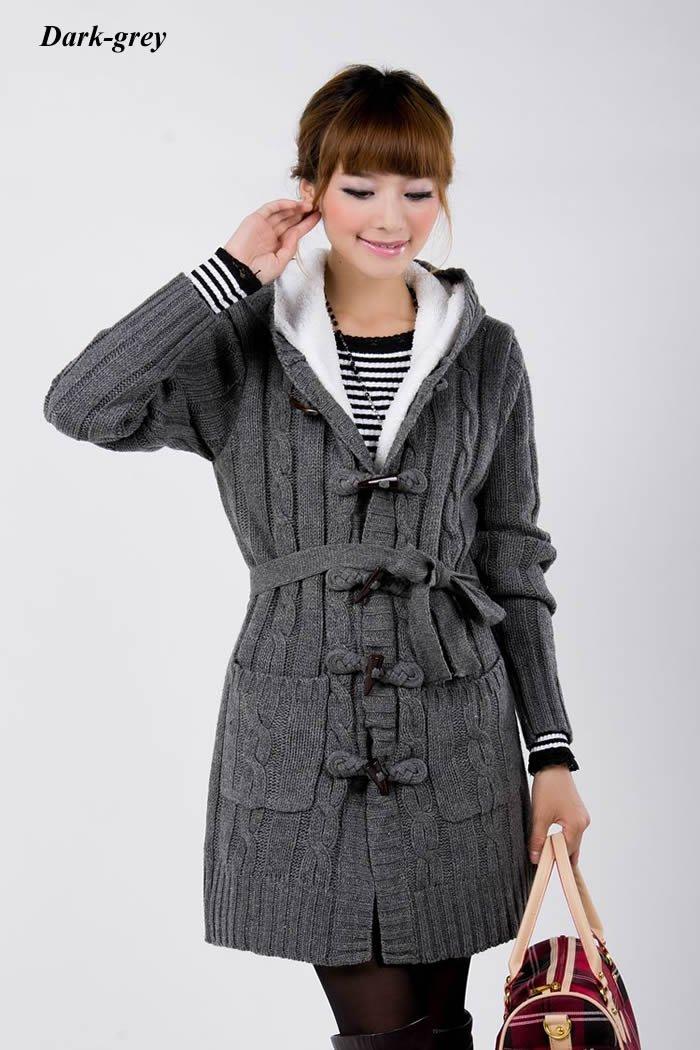 Ladies Long Sweater Coats