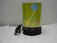 4 Ports LED USB 2.0 High Speed Pen Holder Hub PC Laptop