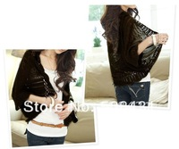 Free Shipping 2013 Fashion Women Batwing Cardigan Sweater Waistcoat Sunscreen Air Condition Shirts 3pcs/lot