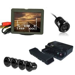 Rear view+ parking sensors kit 3.5 inch TFT-LCD Monitor+Backup Camera(China (Mainland))