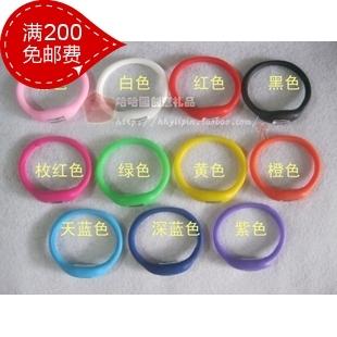Negative ion watch silica gel watch sports watch 3 waterproof(China (Mainland))