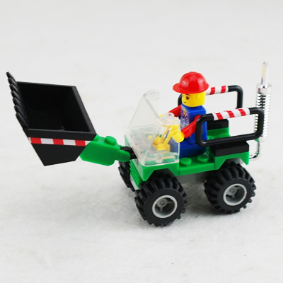free shipping Educational DIY ExploiterTractor Shovel Compatible With Assembles Particles Block Bricks Toys excavator toy(China (Mainland))
