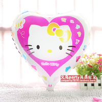 Free shipping 45cm cartoon kt cat aluminum balloon married birthday decoration hello kitty balloon  20pcs/lot