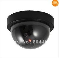 Free Shipping New Fashion Fake Dummy LED Dome CCTV Security Surveillance Camera, Wholesale