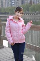AYILIAN down coat Women short design down coat pink white ca0329187