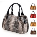 Figg first layer of cowhide serpentine pattern genuine leather women's handbag fashion pleated bags motorcycle bag shoulder bag