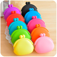 Hearts . hot-selling candy color silica gel coin purse female coin case key wallet
