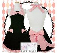 Free shipping cotton cloth apron Korean aprons the fashion Pink striped apron kitchen apron
