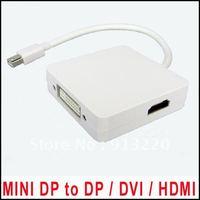 23cm Mini Display Port DP to HDMI DVI Display Port 3 in 1 Mini Displayport Adapter Cable Free DHL 50pcs