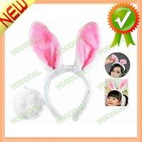 Plush Bunny Ears Headband Halloween Rabbit Head Bopper