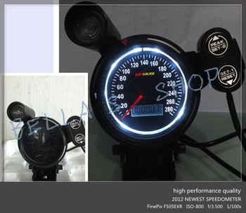 3.75 inch odometer /speedometer/mph automotive  instrument gauge  WHITE LED illuminance with shift lamp with warning function