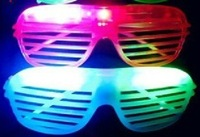 2012  shutter fashion flash LED glasses light  masquerade mask decorative for party/wedding 10pcs