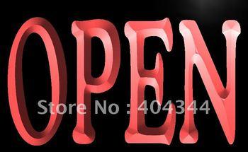 LB645- NEW OPEN Shop Bar Pub Restaurant Neon Light Sign  hang sign home decor shop crafts led sign