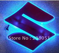 SUZUKI logo light 3D led rear Emblems lighting  LED light, led logo Car Stickercar badge car Emblems
