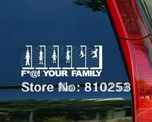 Funny Family Bumper Stickers - Unique family car decals