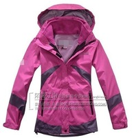 WOMENS Climbing 2in1 With Fleece SKI HOODED Jacket COAT snow Hiking Waterproof