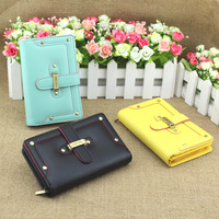 Wallet female long design 2012 rivet drawstring type women's long short design wallet card holder