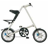 16 inch folding bike, front and rear V-brake/Disc brakes, 9.8 kg, red, matte black, brushed silver, orange