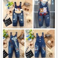 Baby Girl's & Girl's Jeans Romper / Overall, Infant suspender trousers, Kids Jumper pants, Freeshipping