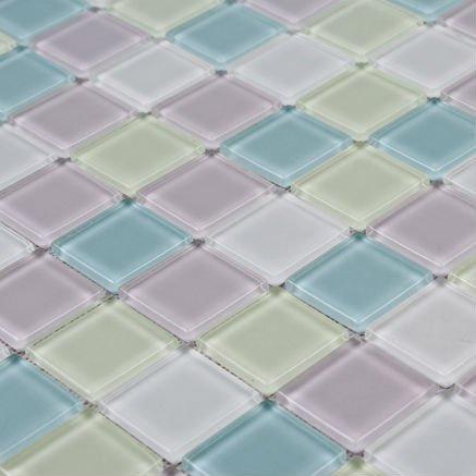 Glass tile sheet mirror 23mm square lowest price mosaic tile for bathroom design backsplash wall art decorative item living room(China (Mainland))