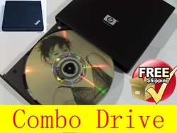 CD Rewriter/DVD-ROM Driver IDE Interface 12.7mm DVD External Notebook Combo Drive Free shipping(China (Mainland))