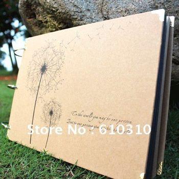 free shipping dandelion vintage Antique DIY Photo Album Scrapbook Paper Crafts for baby wedding picture photograph sticker