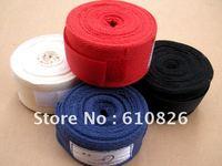 Free shipping, boxing cotton bandage,hand wraps,3m*5cm wrist  supporter, sports swath,for boxing,Muay Thai,Sanda, Karate, MMA