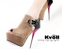 2012 New Arrival sexy thin heels woman 's high heeled shoes KVOLL brand lady boots FREE SHIPPING D6443