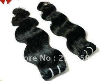 soprano remy hair body wave virgin peruvian human hair extension 3pieces/lot  dhl free shipping