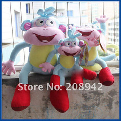 Best selling!! Soft Plush Dora the Explorer BOOTS The Monkey Plush Dolls Toy children toys doll Free shipping,1 pcs(China (Mainland))