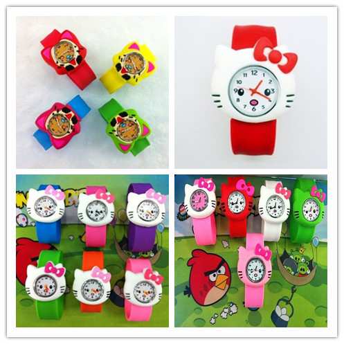 Hot-selling child jelly table hello kitty hyraxes personality dial silica gel table(China (Mainland))