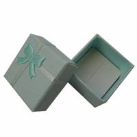 4x 4 light blue ring box stud earring box carton jewelry box jewelry box