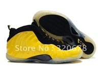 EMS Free Shipping Discount Air Foamposite One Electrolime Black Basketball Shoes Sport Sneakers wholesale and retail
