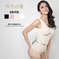 2011 autumn and winter body shaping underwear breathable comfortable deep v neck beauty care underwear vest