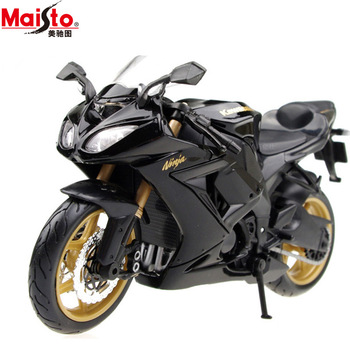 Freeshipping!christmas gift!2012 new arrivals 1:12 KAWASAKI zx 10r black sports car street bike alloy motorcycle model