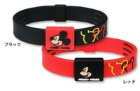 Mickey Mouse Kids Children's Health Energy Titanium Silicone Cartoon Bracelet Wristband Bangle by EMS Free 100pcs/lot