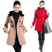 free shipping winter trench fashion quality women woolen overcoat