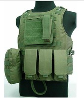 New Airsoft Molle Combat Assault Plate Carrier Vest OD 50095 free ship