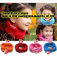 WJ8084 Free shipping  10 pcs/lot  fashion children ring scarves ,kids bandelet/muffler ,girls  neck scarf  hot sale
