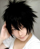 free shipping cosplay wig 0 ! l , - black crushed hot sell hot sale