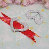 100 Heart Love Acrylic Buckle Shower Ribbon Slider Craft Wedding Party Favor Fit Ribbon below 1.5cm