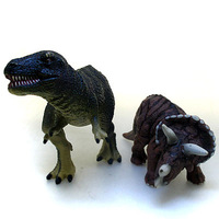 Blip toys animal model 2 pieces set Tyrannosaurus Rex Triceratops free air mail