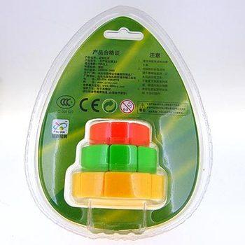 Yu xin Multicolour 3x3 small cake magic cube  free air mail