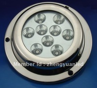 9x3W Stainless Steel 316 waterproof LED underwater boat light