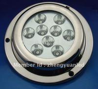 9x3W Stainless Steel 316 waterproof LED underwater boat light