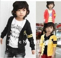 free shipping The children R letter cardigan jacket children coat guard coat shirt children clothing  ow526