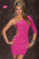 Женское платье 2013 s Women's Sexy V-Neck Open Back Dresses Hollow Out Bowknot Dress 3 Colors G6124