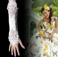 Bridal gloves wedding gloves lace gloves fingerless gloves lengthen glove s03
