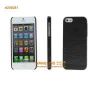 For iPhone 5 Case, PC Plastic Material Hard Net Back Cool Cover Case, 11 Colors, Drop Shipping, Retail, Wholesale, Free Shipping