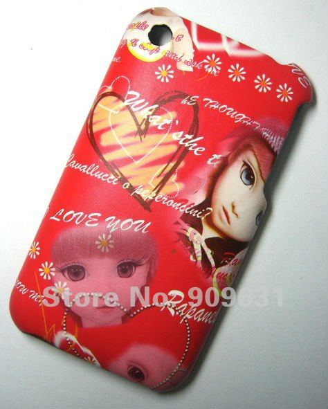 Free Shipping, Hard Back Cover Japan Baby Beauty case for Iphone 3g, 3gs, best quality, hot sell , Red Gifts(China (Mainland))